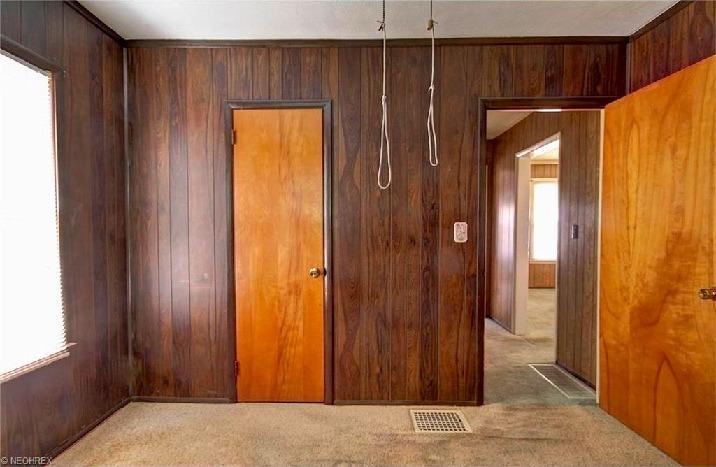 casas horribles, madera