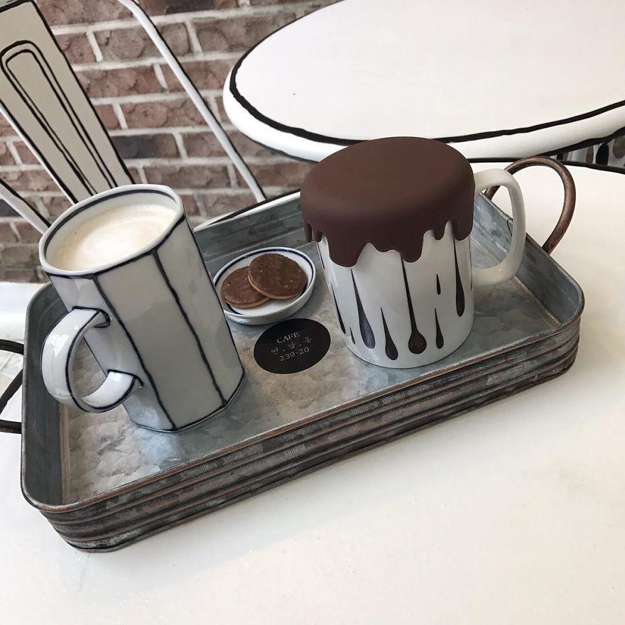 Cafés, ilustración