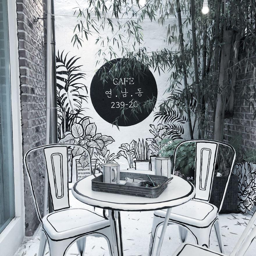 Cafés, mesa