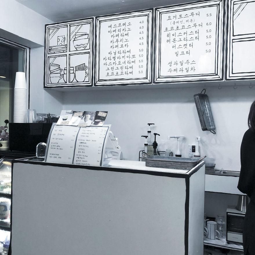 Cafés, mostrador