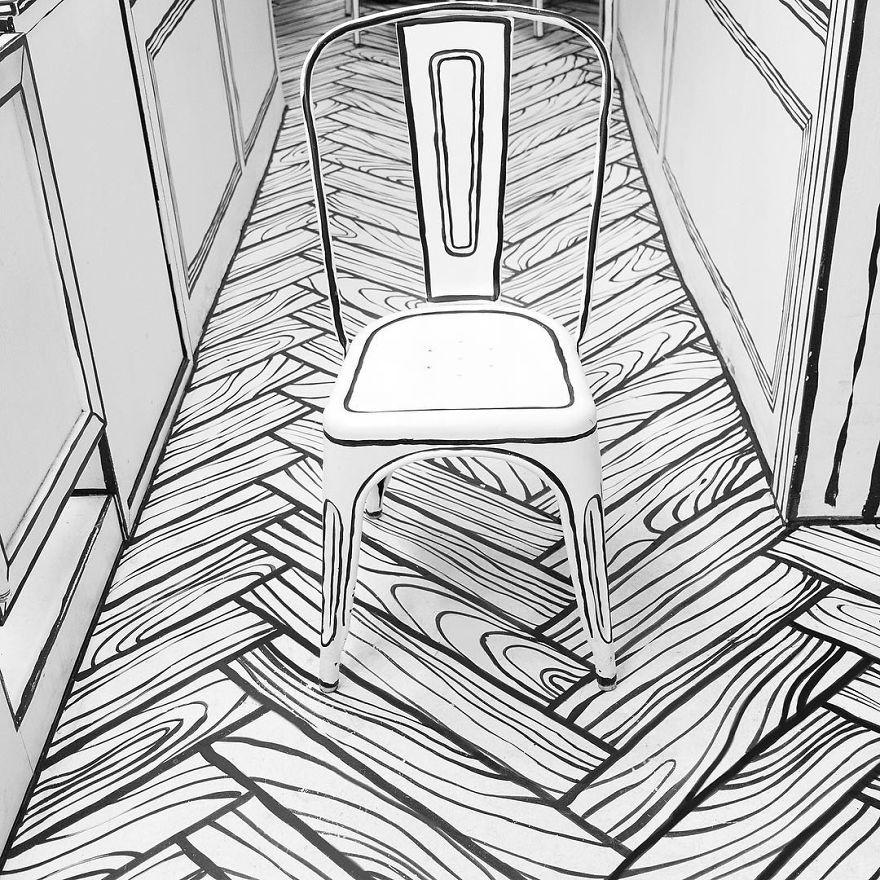 Cafés, silla