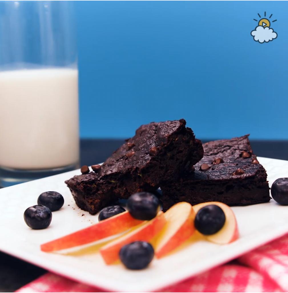 brownie, zucchini, saludable