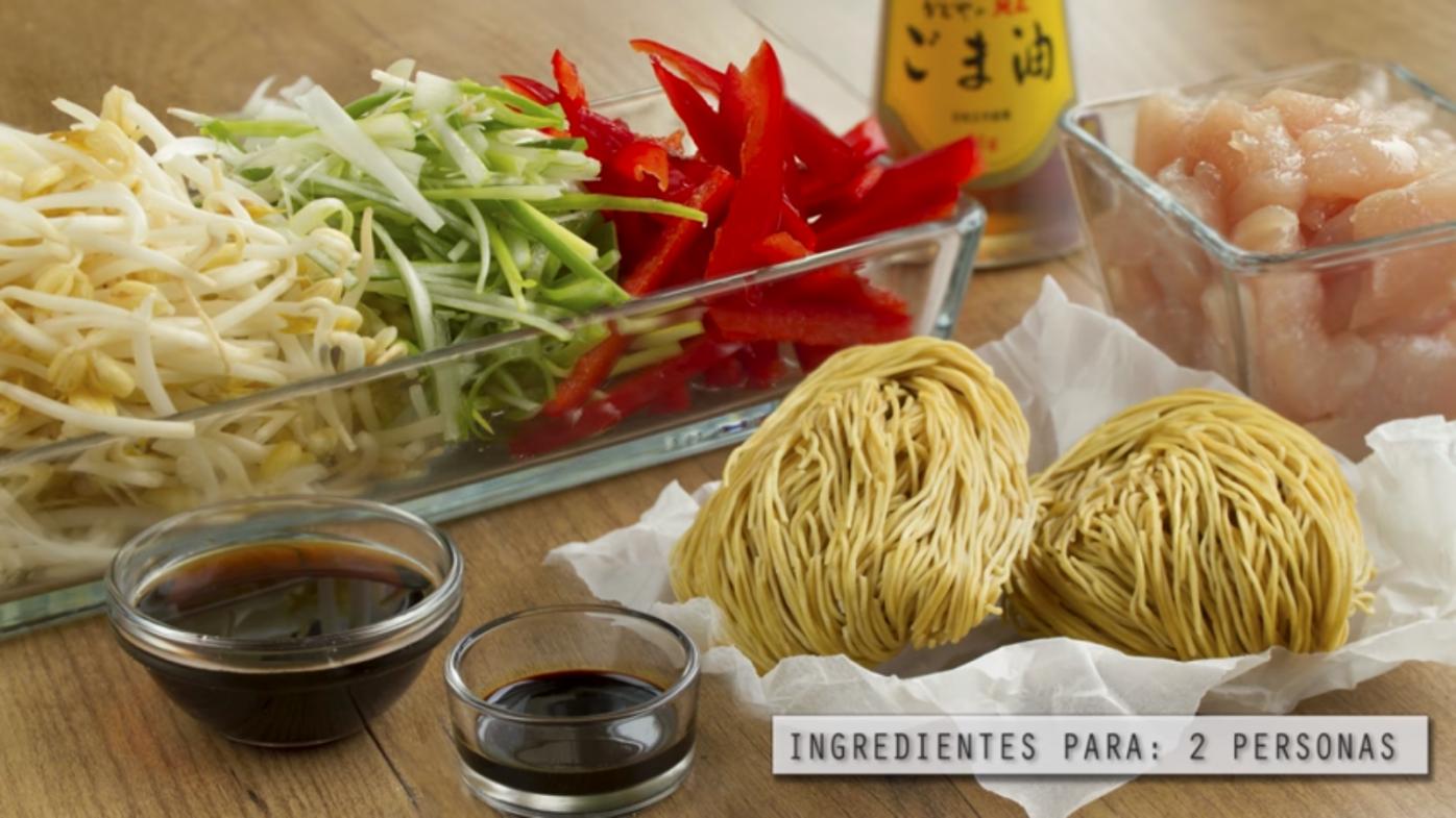 receta fideos fritos chinos