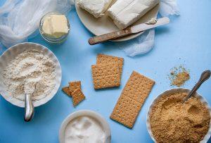 Tarta de queso: galletas para la base