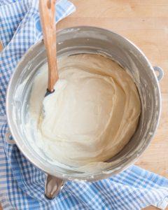 Tarta de queso con arándanos: Crema