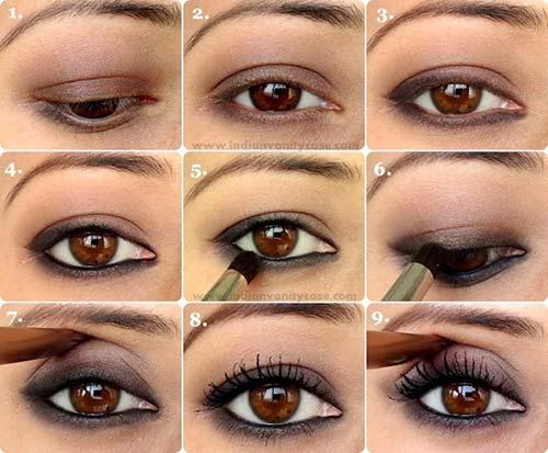 maquillaje ahumado suave