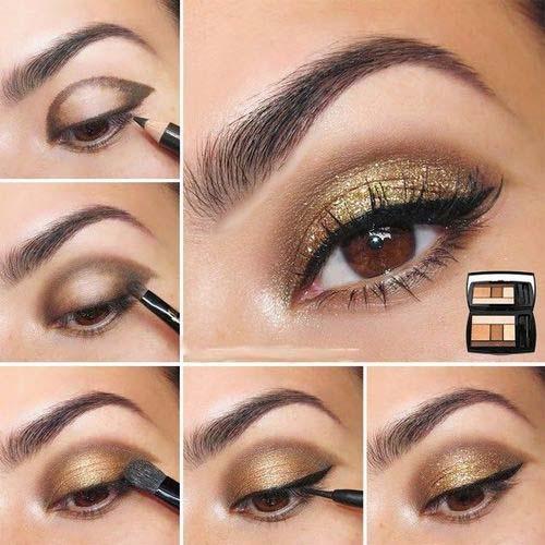maquillaje ojos brillantes
