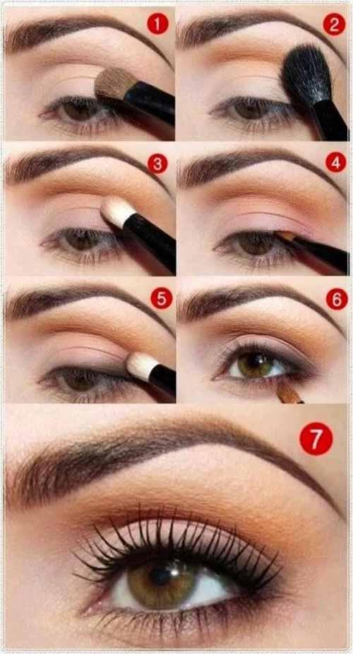 maquillaje ojos melocotón