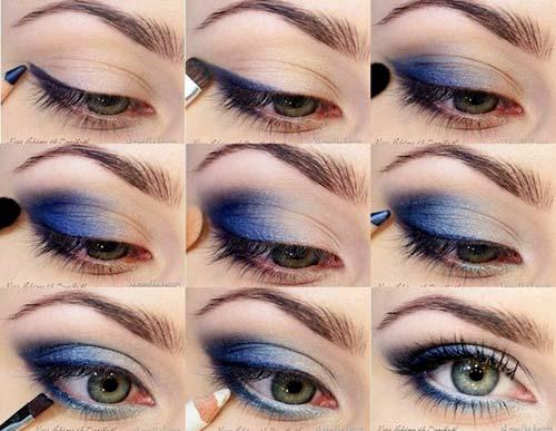 maquillaje ojos azul