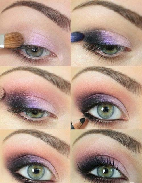maquillaje ojos púrpura