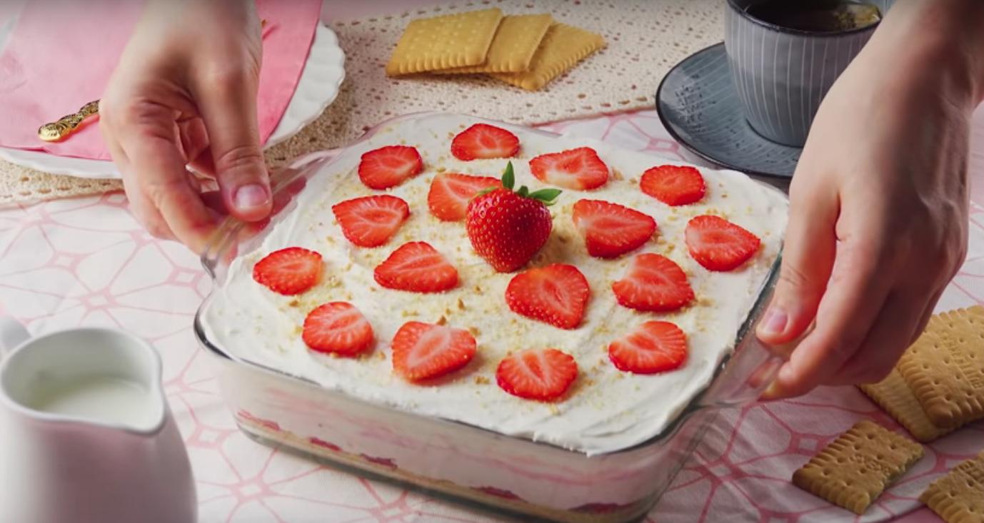 pastel de fresa, receta
