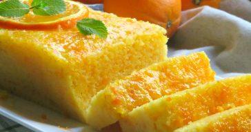 bizcocho de naranja al microondas