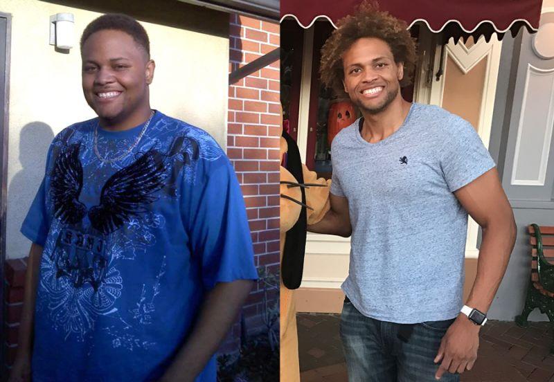 antes y despues de comer bien