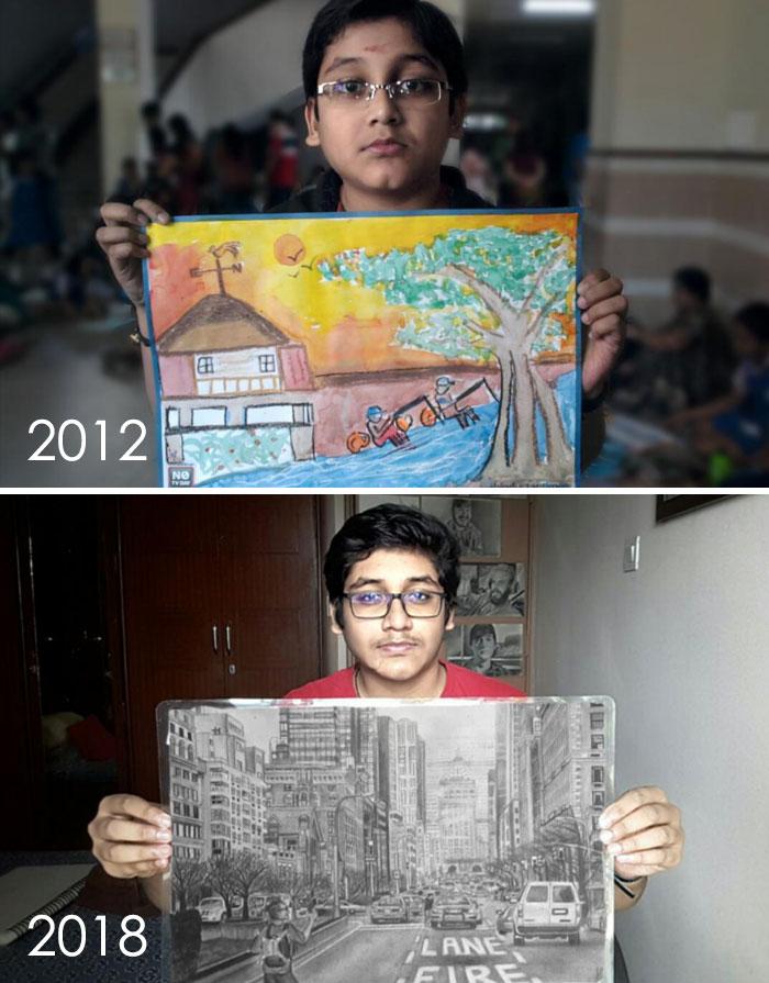 progreso de dibujos