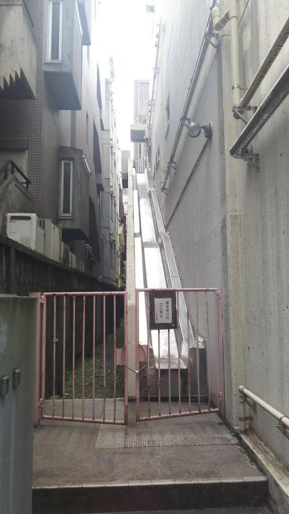 japoneses, escalera