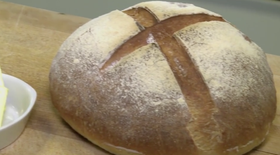 Receta de pan casero con grasa y levadura