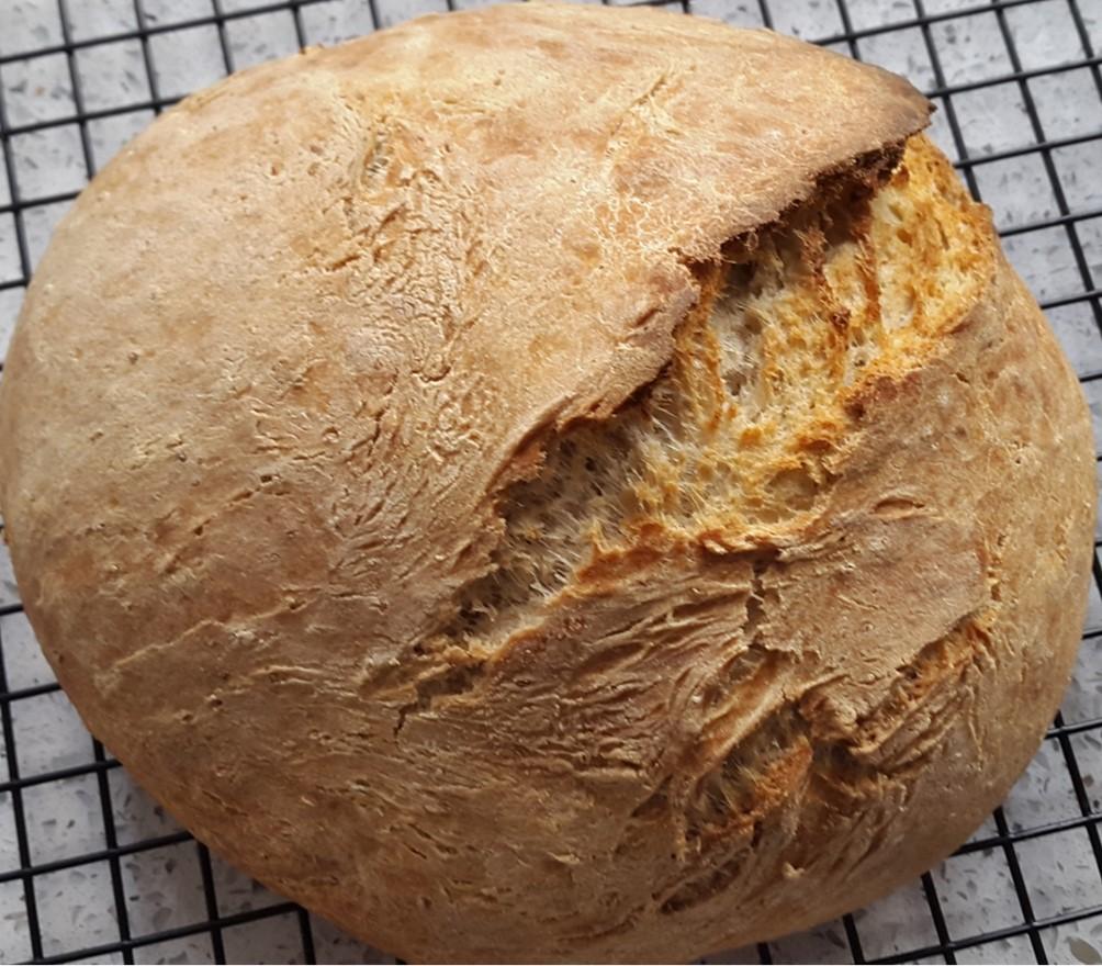 hacer pan integral de espalta