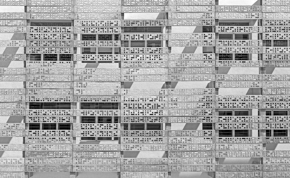 Concurso foto arquitectura. El revestimiento de hormigón perforado de VM Estancia, en Chennai, Tamil Nadu (India)