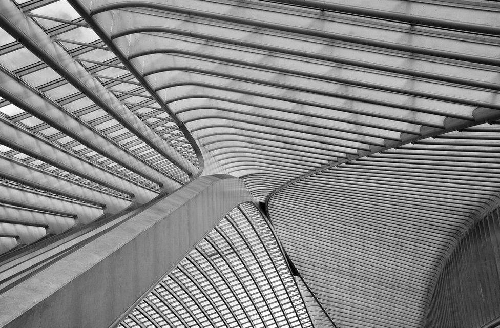 Concurso foto arquitectura. El techo de la estación de Lieja-Guillemins (Bélgica)