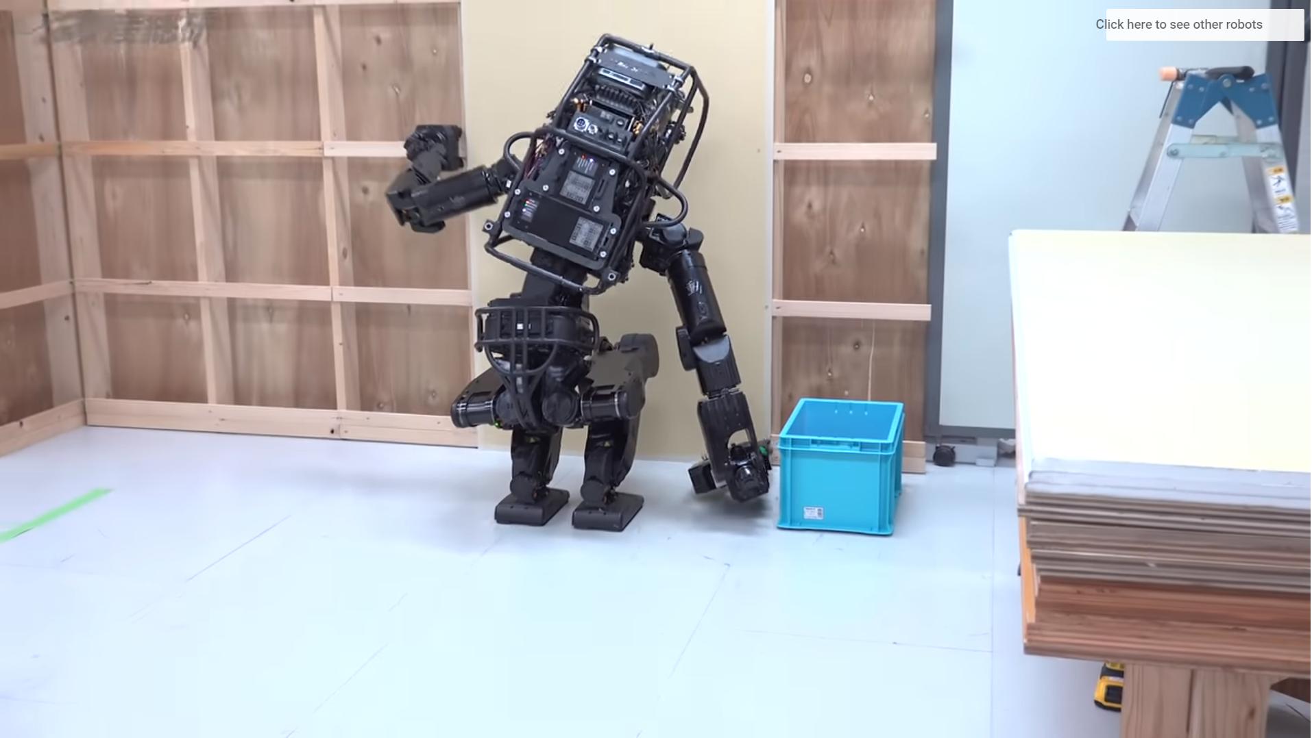 robot, soltando