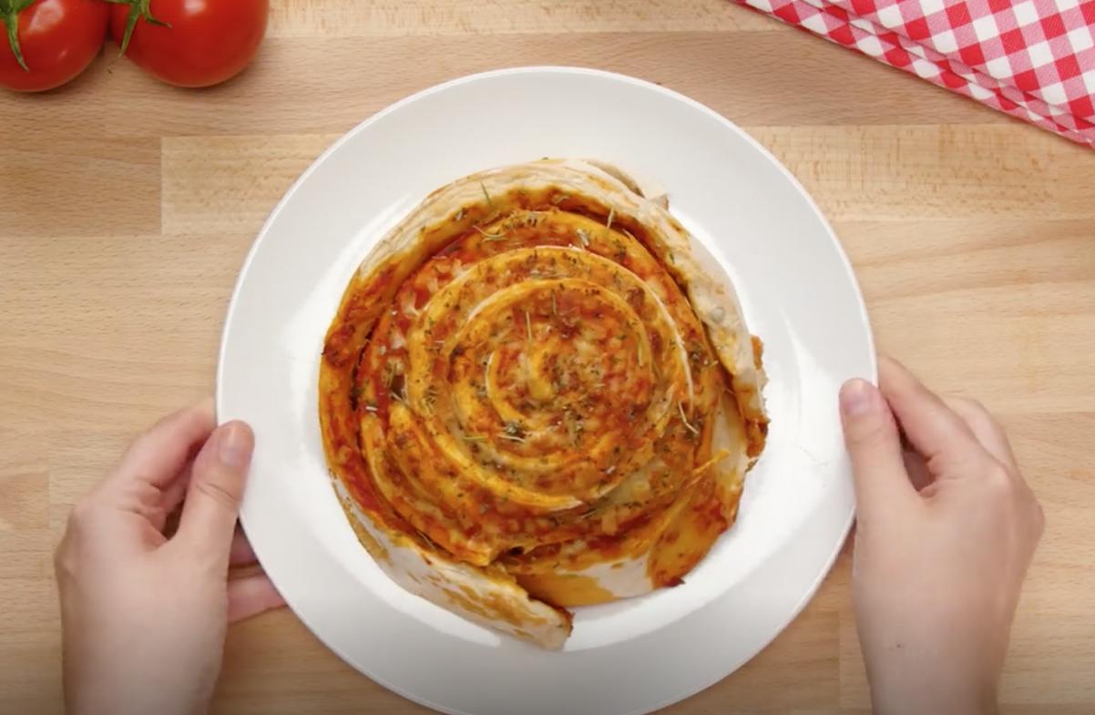 rollo gigante de pizza