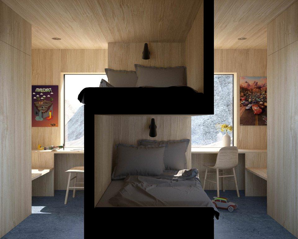 habitación, diseño, espacios