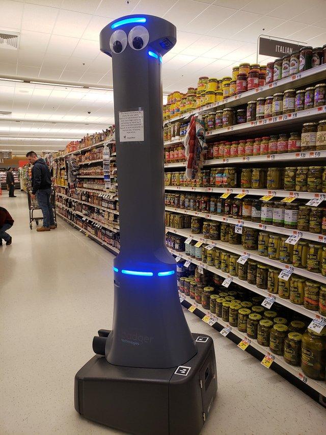 Robot en supermercado