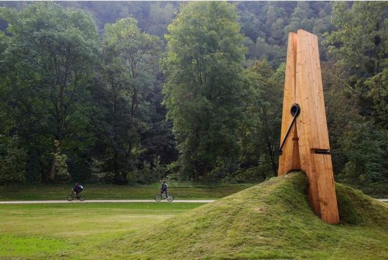exhibición, parque, arte