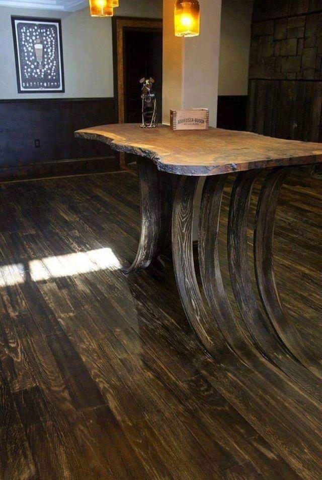 mesa, piso, madera