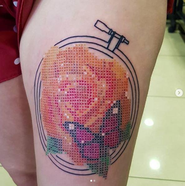 crosstitch tattoo