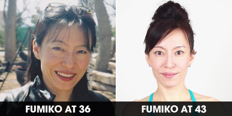 Antes y después del Yoga Facial
