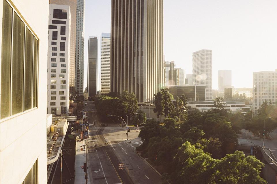 los angeles ciudad avenida américa california