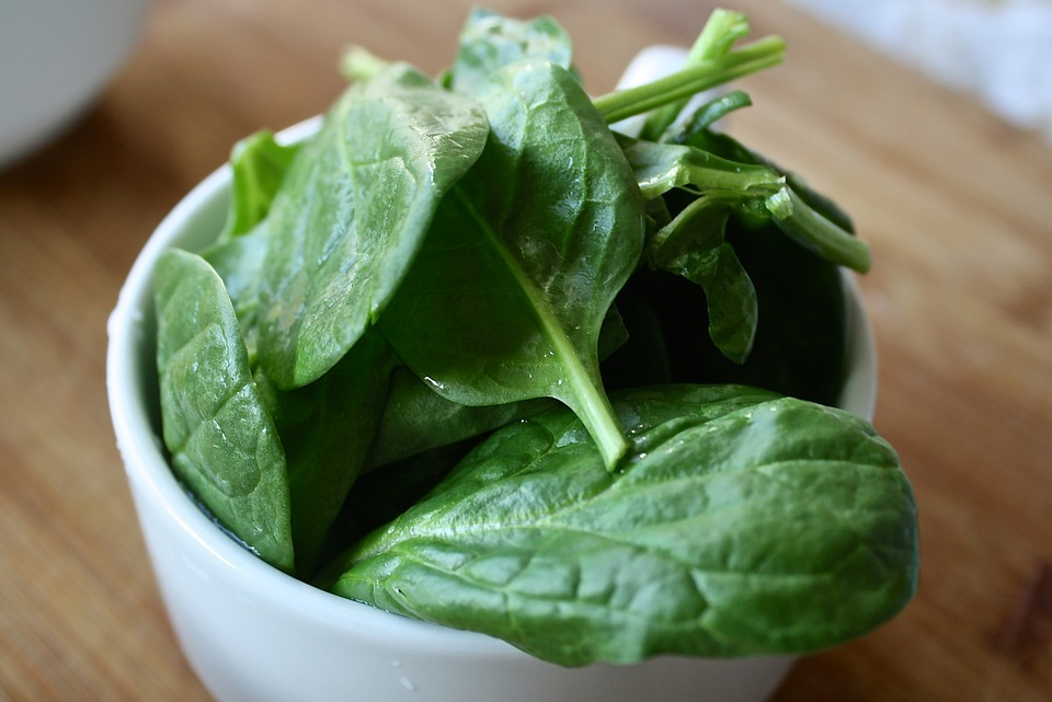 espinacas hoja verdura alimento