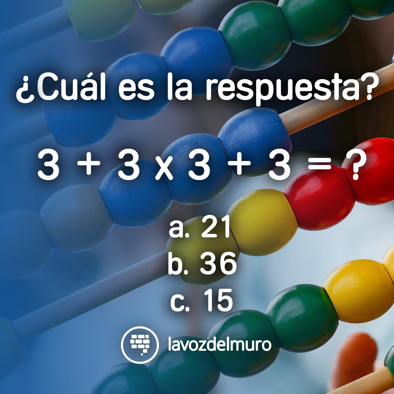 acertijo de sumas y multiplicaciones