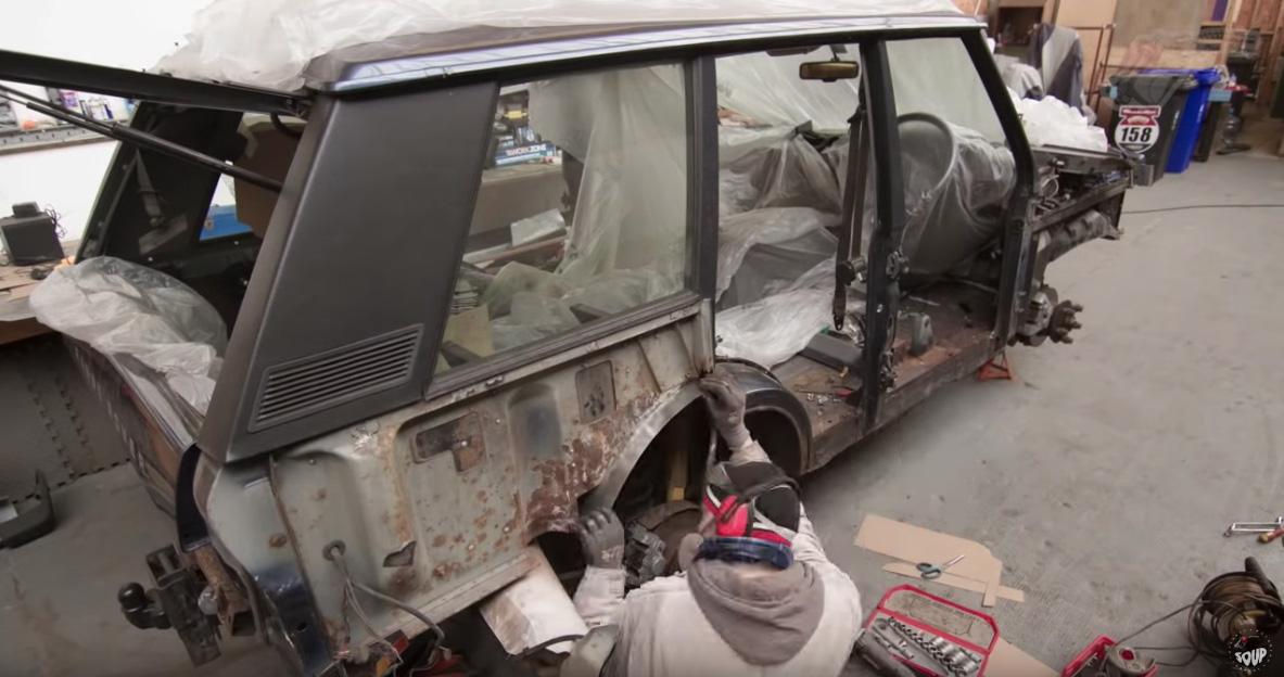 Restauración coche viejo