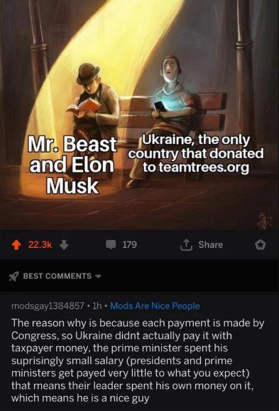 Teamtrees Elon Musk Ucrania