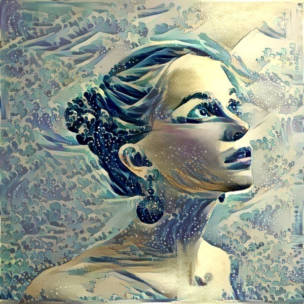fusion redes neuronales arte máquina retrato