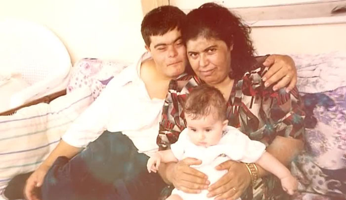 familia foto familiar sindrome de down padre madre