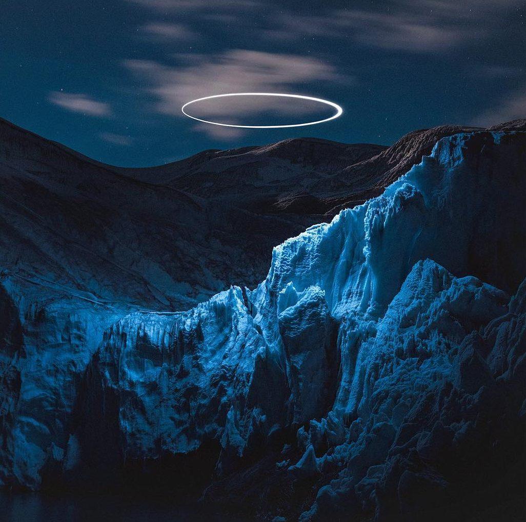 halo azul