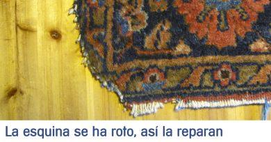 esquina alfombra