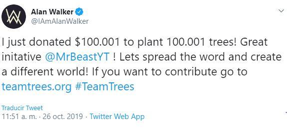 Alan Walker Twitter DJ Teamtrees