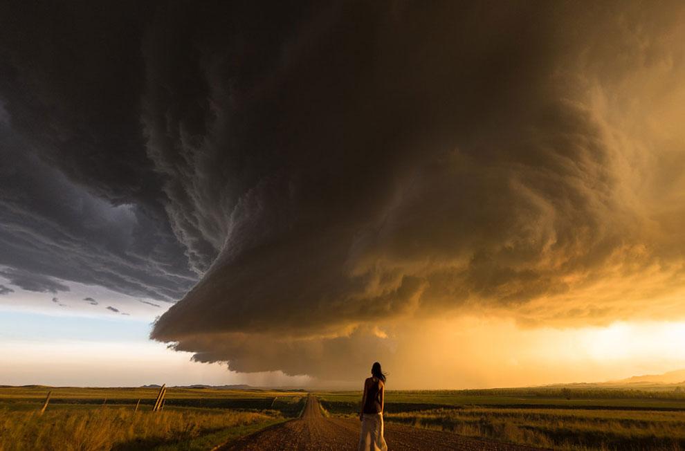 fotógrafo de tormentas impresionantes