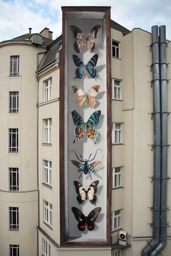 graffiti mariposas