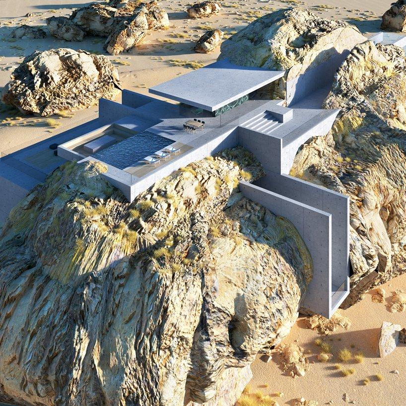 Casa roca desde aire