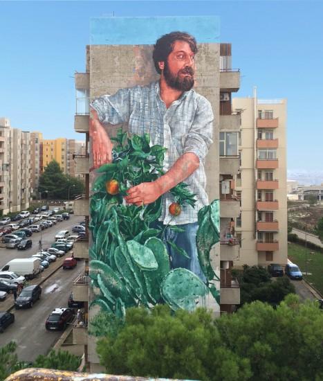 dibujo hombre con plantas