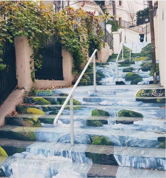 graffiti escaleras