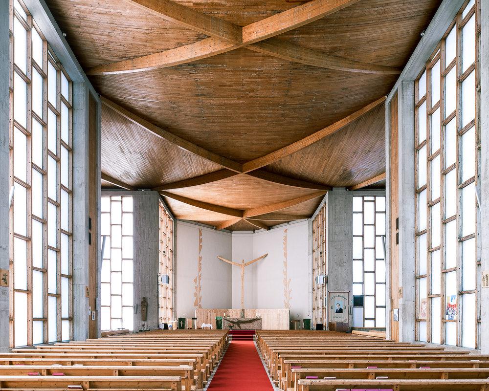 iglesia moderna luz
