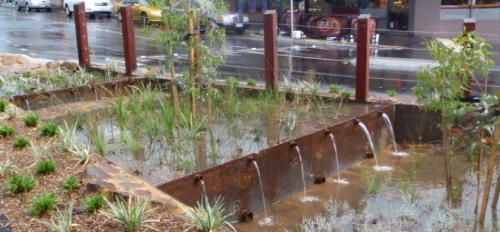 fuente agua calle