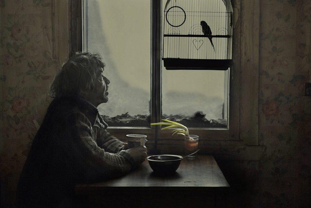meteorólogo mira pájaro