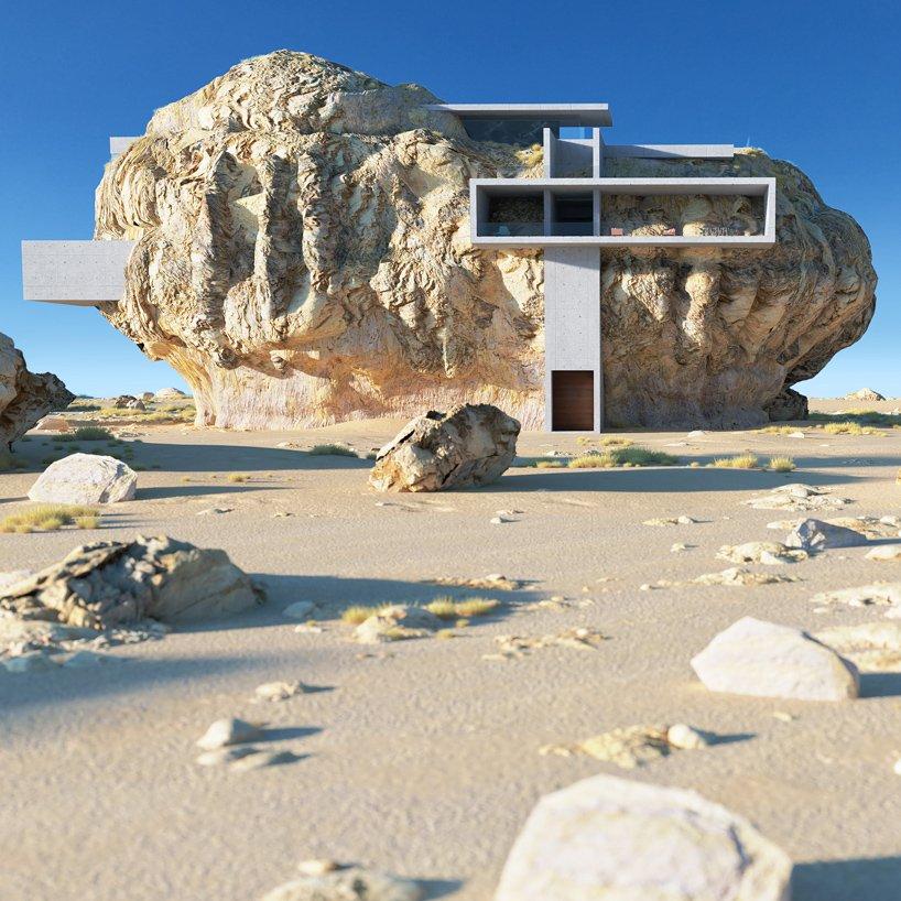 casa en una roca